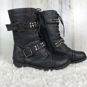 Wild Diva Lounge | Punk Tall Combat Boots Size 7